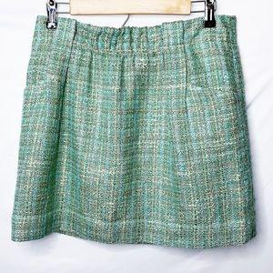 FINAL SALE NWT J Crew Mint Green Plaid Mini Skirt